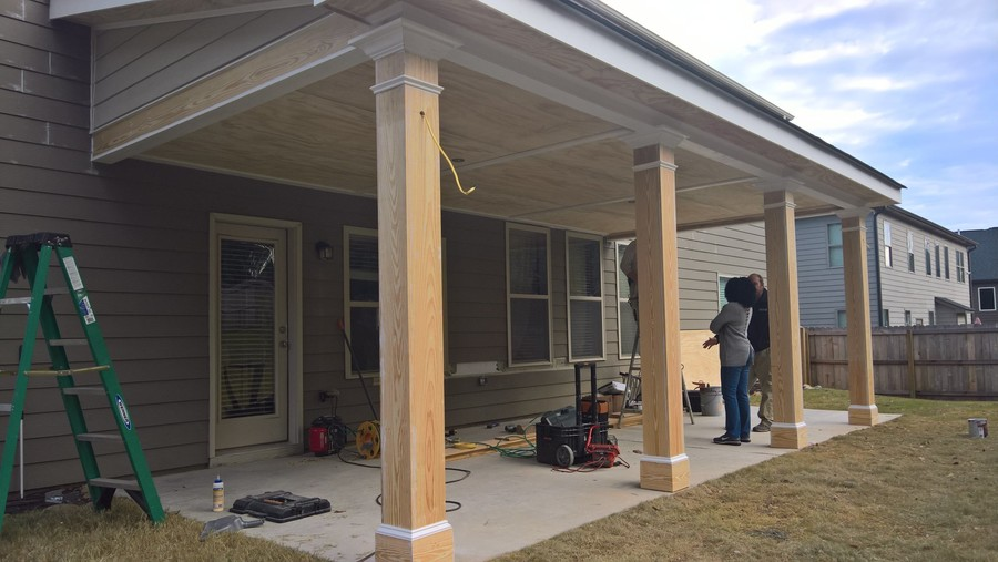 Construction of new addition in Monroe GA by Total Home Improvement Services